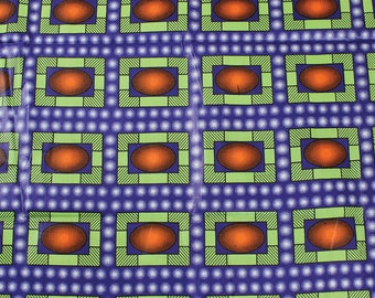 Premium Ankara Print FASHION Fabric - Single Yard or Fat Quarters (HF42)