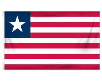 Printed Polyester Flag - Liberia