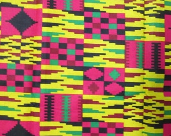 Premium Ankara Print KENTE Fabric - 3 or 6 yards (HF174)