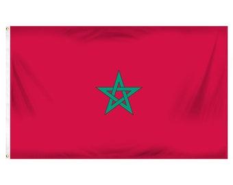 Printed Polyester Flag - Morocco
