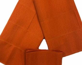 Aso-Oke (Orange) - 3 Piece Gele Set