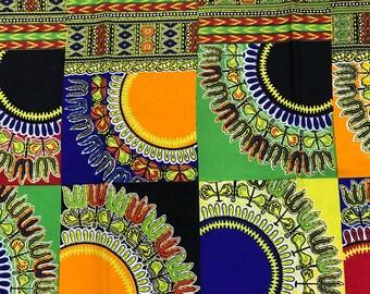Premium Ankara Print FASHION Fabric - 3 yards @ 6.66/yd or 6 yards @ 4.99/yd (HF2239)