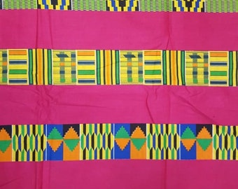 Premium Ankara Print KENTE Fabric - 3 or 6 yards (HF190)