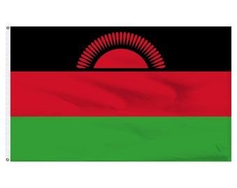 Printed Polyester Flag - Malawi