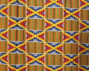 Premium Ankara Print KENTE Fabric - 3 or 6 yards (HF175)