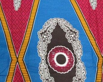 Premium Ankara Print DASHIKI Fabric - 3 or 6 yards (HF919)