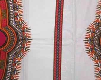 Premium Ankara Print DASHIKI Fabric - 3 or 6 yards (HF1638)