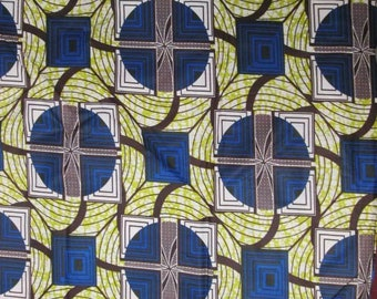 Premium Ankara Print FASHION Fabric - 3 yards @ 6.66/yd or 6 yards @ 4.99/yd (HF1433)