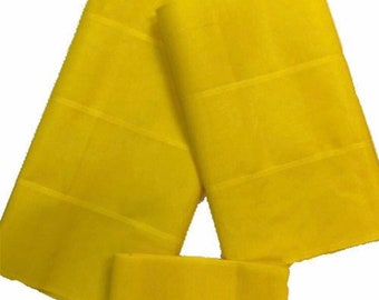 Aso-Oke (Yellow) - 3 Piece Gele Set