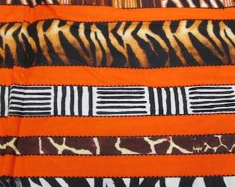 Premium Ankara Print ANIMAL PRINT Fabric - By the Yard (HF924)