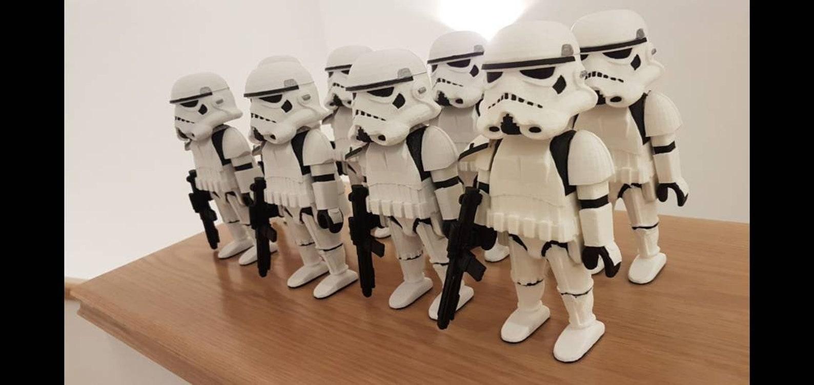 xl star wars custom playmobil sculpture of storm trooper