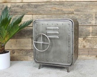 Industrial Chrome Cabinet