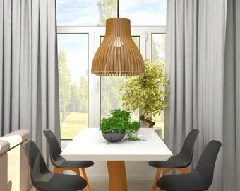 Moderne Lampen 82 : Holz lampe holzlampenschirm hängelampe anhänger licht etsy