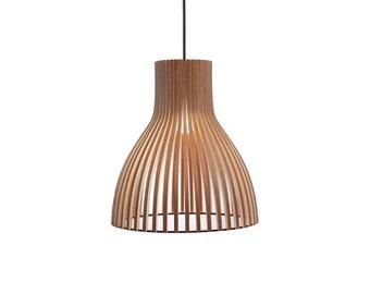 Holz lampe holzlampenschirm hängelampe anhänger licht etsy