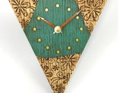Turquoise Clock w/ Flower Texture