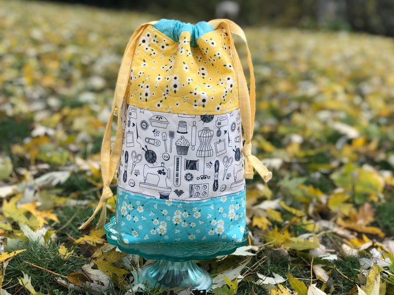 Small Tall Quilted Project Bag