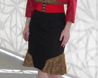 21586de24e Flounce Pencil Skirt- 50's Vintage Style, Pin-Up, Rockabilly, Vintage Dress,  Women's Clothing