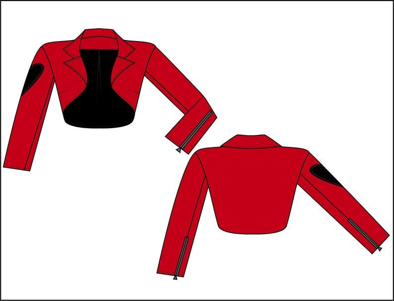 Vintage Clothing Pin-Up Custom Made- Bolero Jacket- Heart on your Sleeve- Faux Leather- 50/'s Vintage Style Rockabilly Women/'s Clothing
