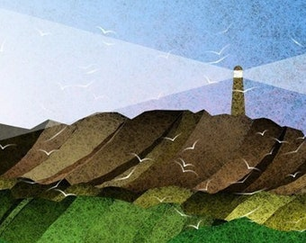 Lighthouse 401 - Day - Art Print