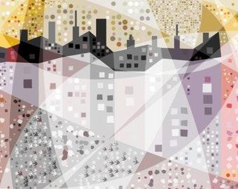 Pastel Houses - Art Print