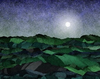 Moonrise 3 - Art Print