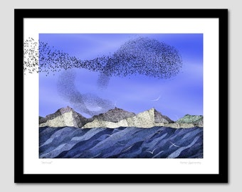 Migrations and Murmurations (Arrival) - Art Print