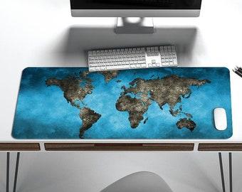 Fabulous World Map Desk Mat Desk Cover Desk Protector Blotter Etsy Download Free Architecture Designs Jebrpmadebymaigaardcom