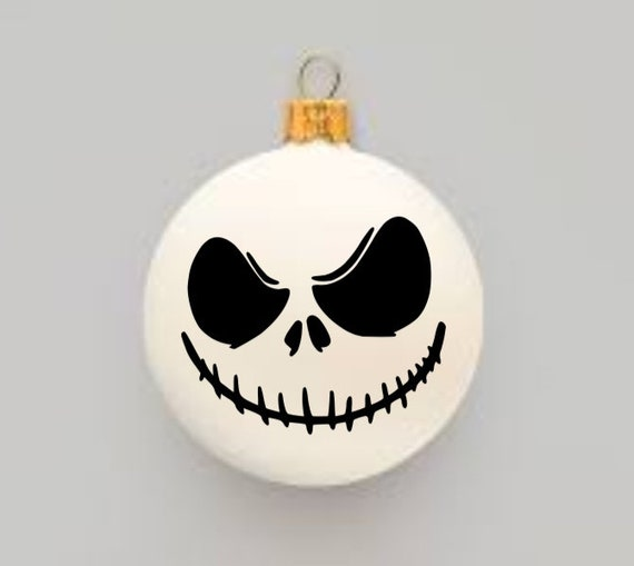 Nightmare Before Christmas Inspired Diy Christmas Ornament Decal Sticker Jack Decal Jack Skellington Christmas Decor
