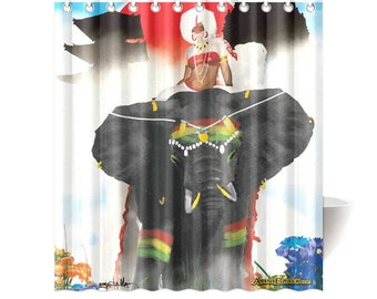 Punic In Candyland CUSTOM SHOWER Curtain