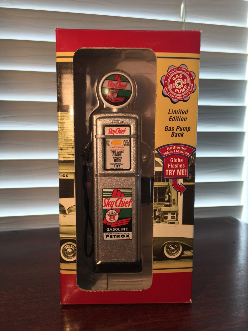 1950's texaco limited edition gas pump bank
