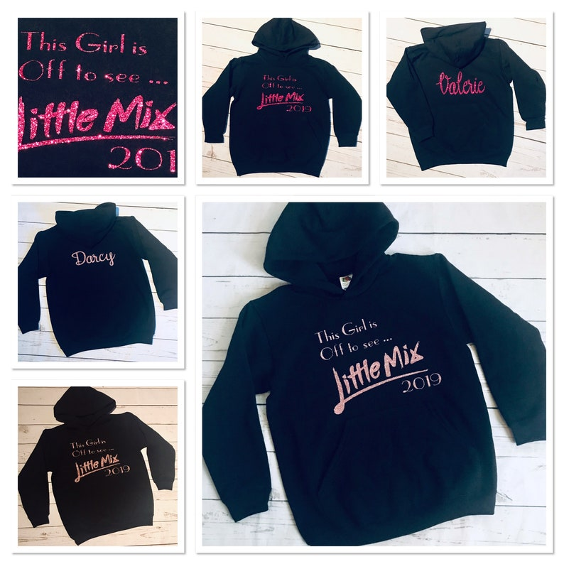 Personalised concert  gig hoodies little mix spice girls Ariana grande take that