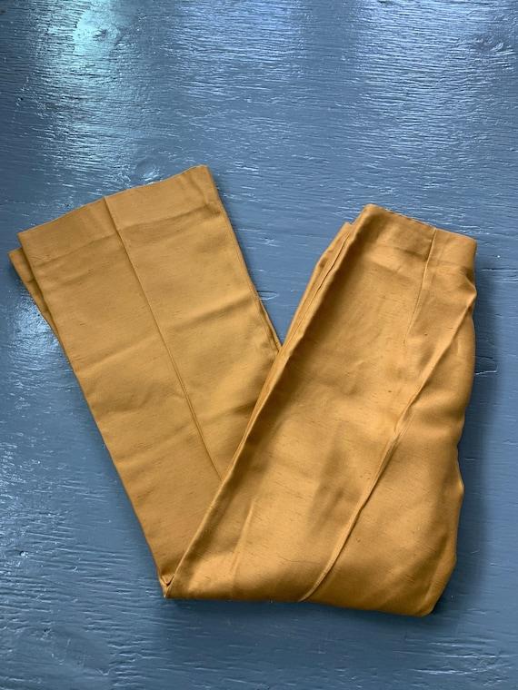 Vintage Alex Coleman California Pants / 70s Mustar