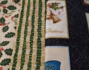 3 yard bundle Christmas fabric Joyous Christmas SC5200 Laurie Cook Holiday Michele D'Amore