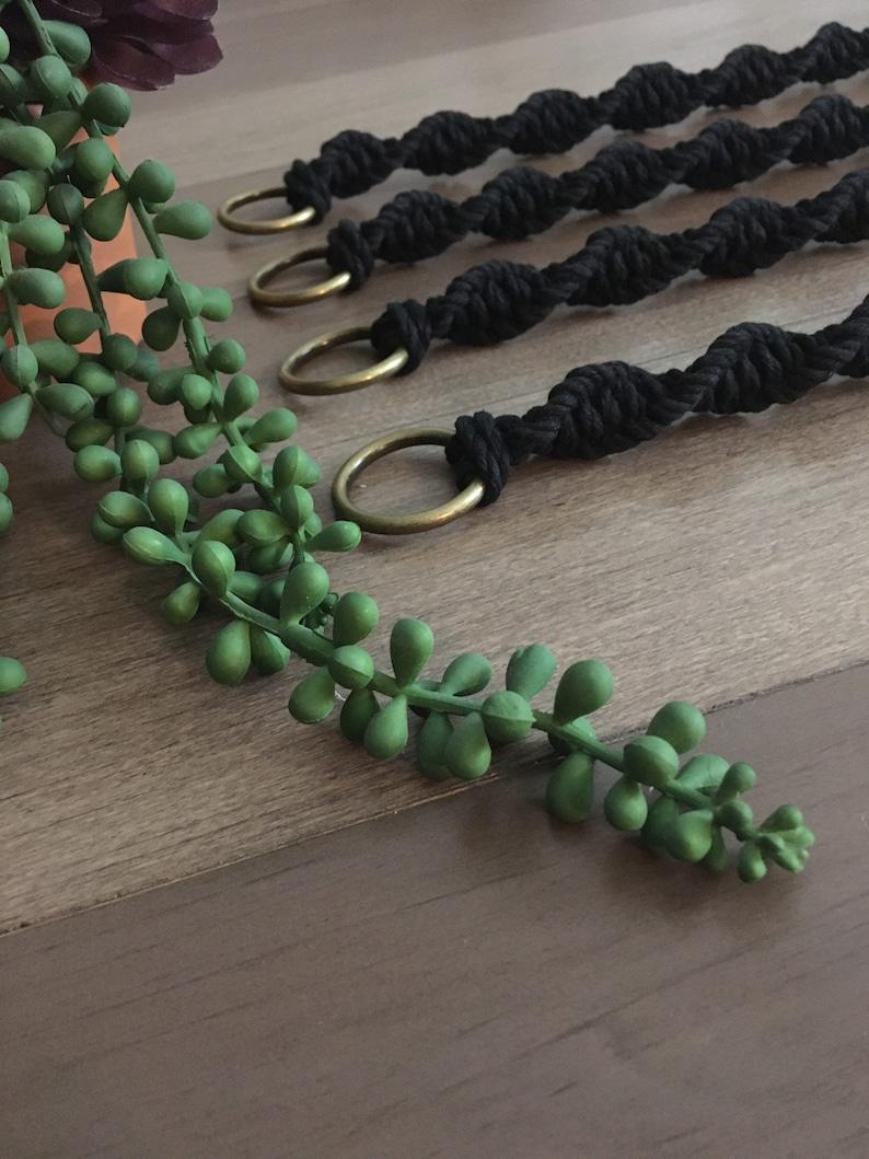 Black Plant Lovers Handmade Bronze Macrame Plant Hanger Extender  Macrame Plant Holder Extender  Extender  Extension