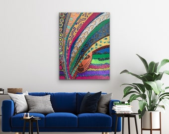African Art, Original canvas painting, Abstract acrylic art, Living Room Wall Art, Modern Home Decor, African American painting, Black Art
