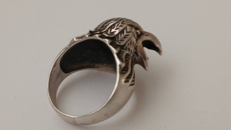 Sterling Shrieking Eagle Ring
