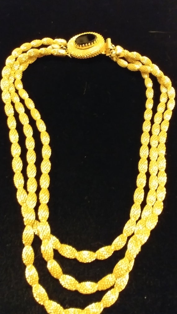 Hobe Gold Mesh Necklace