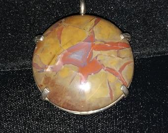Lovely Large Handmade Sterling Agate Pendant