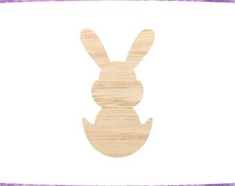 Bunny Wood Cutout Etsy