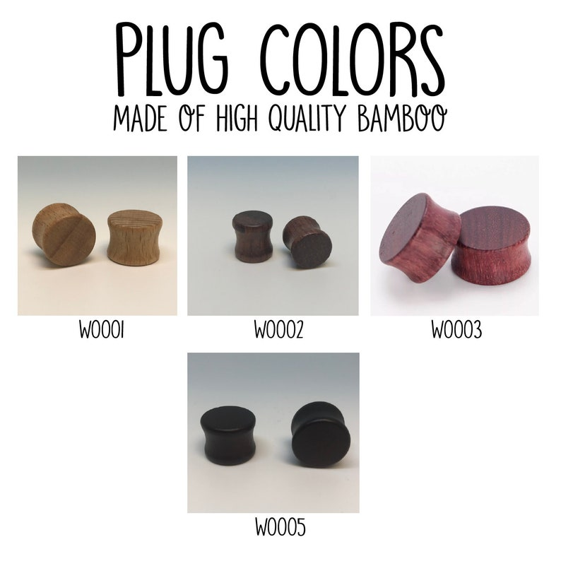 Double Flare Plugs A PAIR of Bamboo Wooden Plugs Custom Plugs Dove Plugs Wooden Gauges Natural Plugs Wood Plugs Wooden Gauges