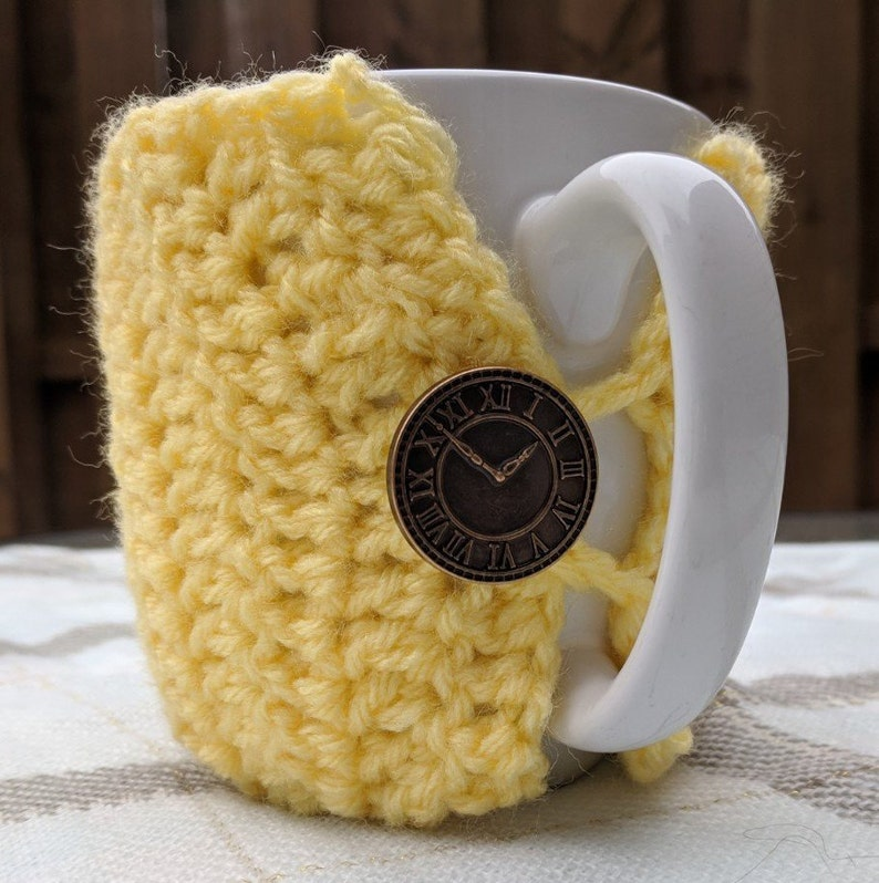 Crocheted Coffee Cup Cozie image 0