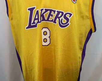 0d98ea8f Vintage 90's Champion Los Angeles Lakers Kobe Bryant 8 Jersey sz 48