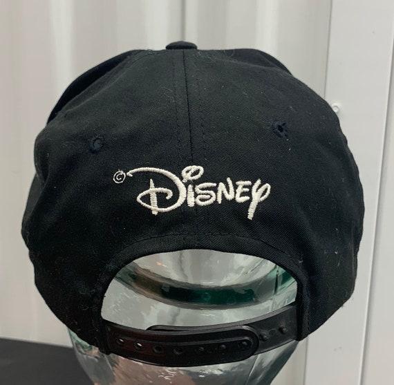 Vintage 90/'s Disney Beauty /& The Beast Belle Black Logo Snapback Hat Cap