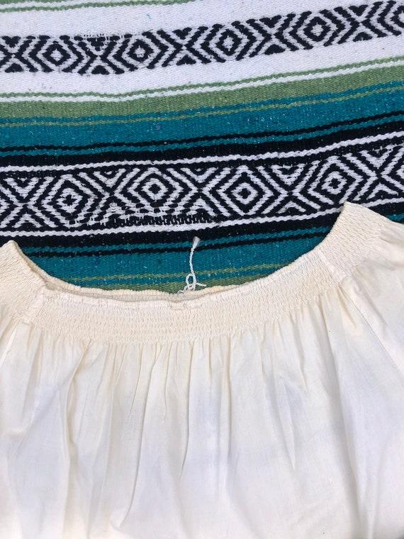 Vintage Hungarian Ruffled Off Shoulder Embroidere… - image 6