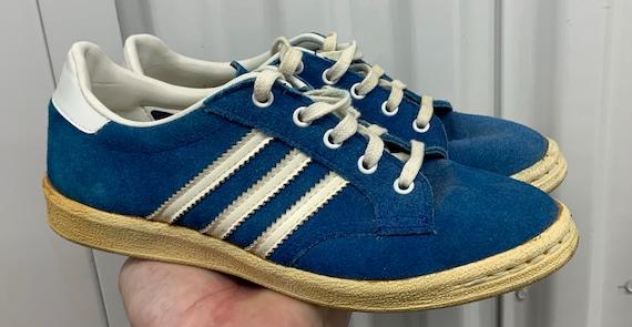 salchicha Haz un experimento En respuesta a la  Nice Original 70's Vintage Adidas Billie Jean King Blue   Etsy