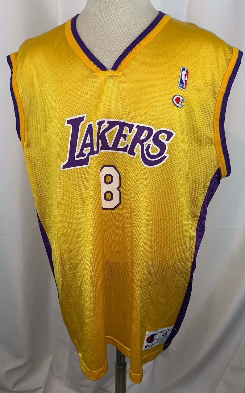 4004da2b9 Vintage 90 s Champion Los Angeles Lakers Kobe Bryant 8