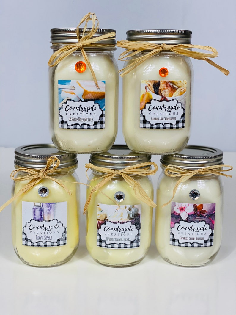 Granny\u2019s Pecan Pie Scented Candle Wax Melts Free Wax Melt Sample With Every Purchase 8oz Strong Candles 16oz Container Candle