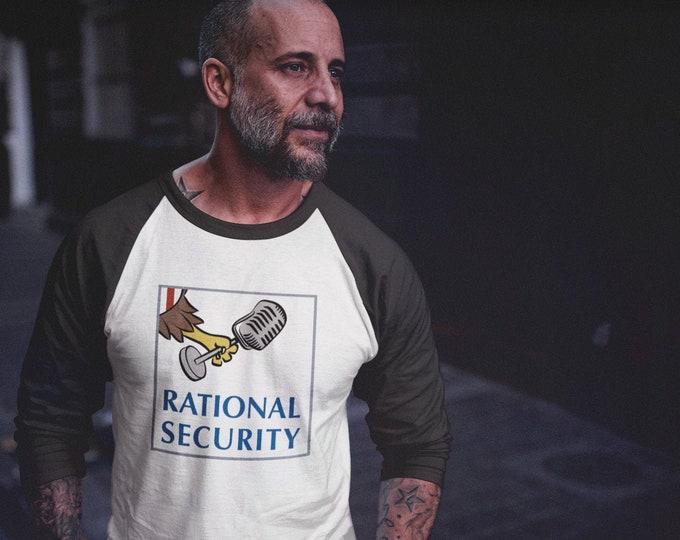 Rational Security 3/4 sleeve raglan shirt