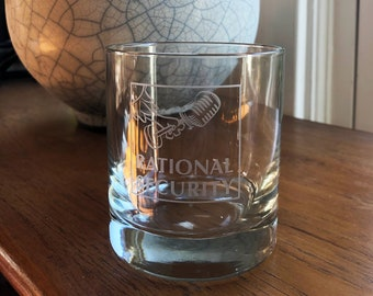 Set of 2 Rational Security Podcast Etched Rocks Glasses