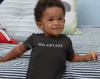 Lawfare Teal or White Banner Infant Bodysuit